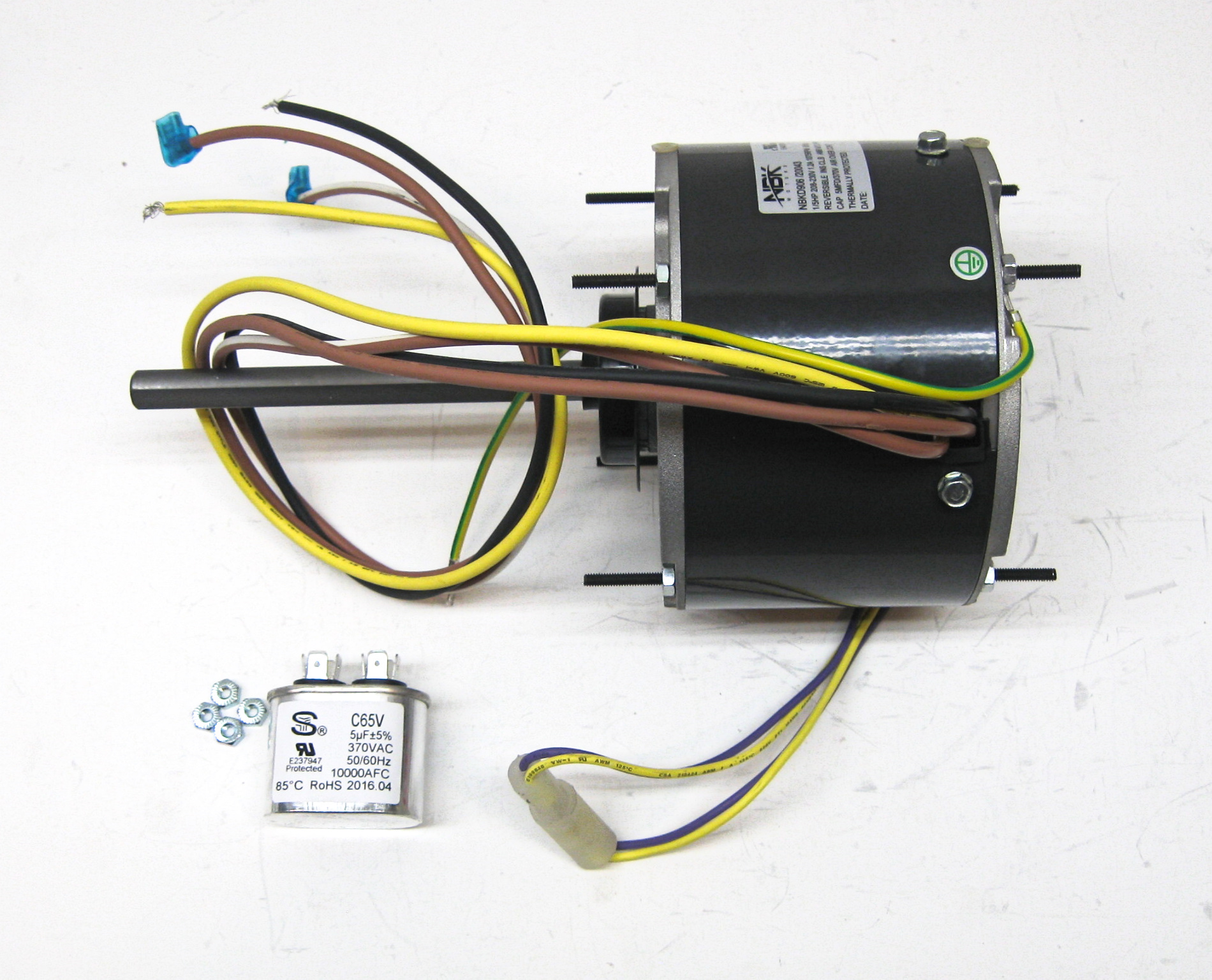 hight resolution of partsconnect nbk condenser fan motor and capacitor pcd906 walmart com condenser fan motor bearings condenser fan motor wiring