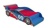 KidKraft - Racecar Toddler Bed with 4-Piece Bedding Set ...