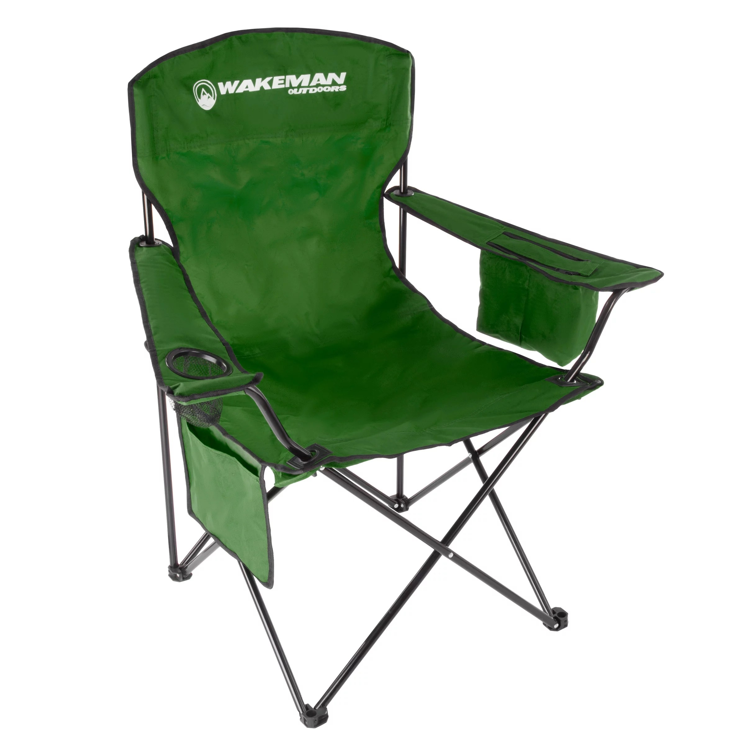 tall fishing chair coleman oversized quad camp 300lb capacity big seat with cup holder cooler carry bag tailgating camping by wakeman outdoors walmart com