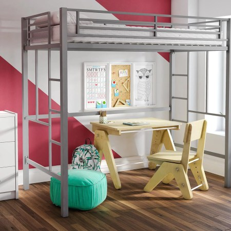 Your Zone Metal Loft Twin Bed Multiple Colors