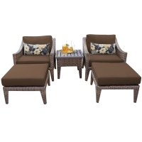 Soho 5 Piece Outdoor Wicker Patio Furniture Set 05e ...