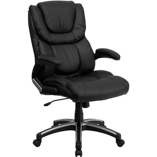 flash furniture high back executive leather office chair Flash Furniture High Back Leather Executive Office Chair, Black - Walmart.com