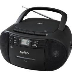 jensen cd 545 portable stereo cd player with cassette recorder am fm radio walmart com [ 1500 x 1500 Pixel ]