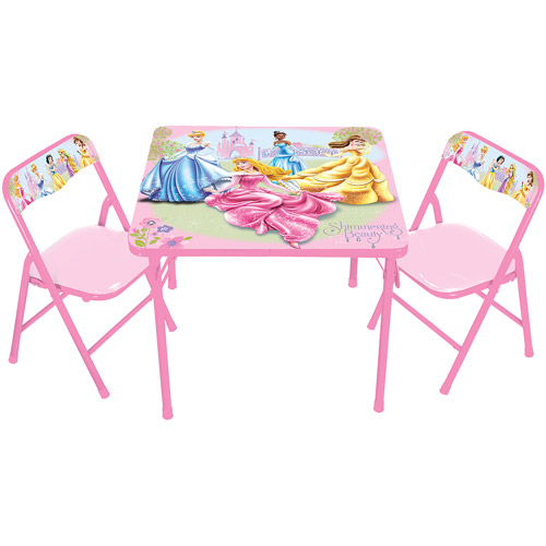 activity table and chair set cup holder tray for zero gravity disney princess glow within t walmart com