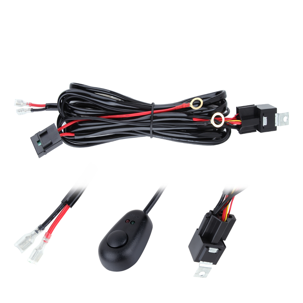 hight resolution of 3m 10ft light wiring harness annt waterproof 12v 40a led off road rh walmart com led light bar harness diagram led light bar wiring harness install