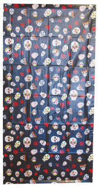 Day Of Dead Sugar Skull Door Cover Dia De Los Muertos