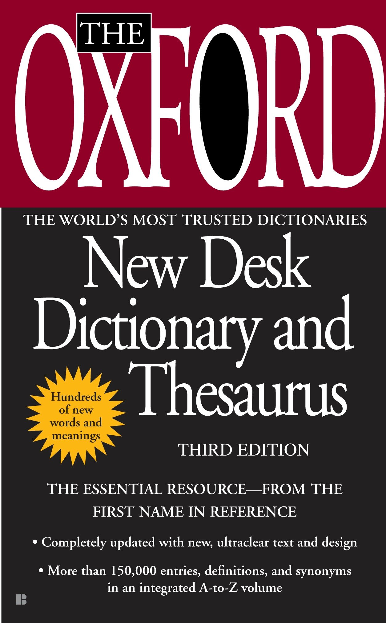 The Oxford New Desk Dictionary And Thesaurus Third