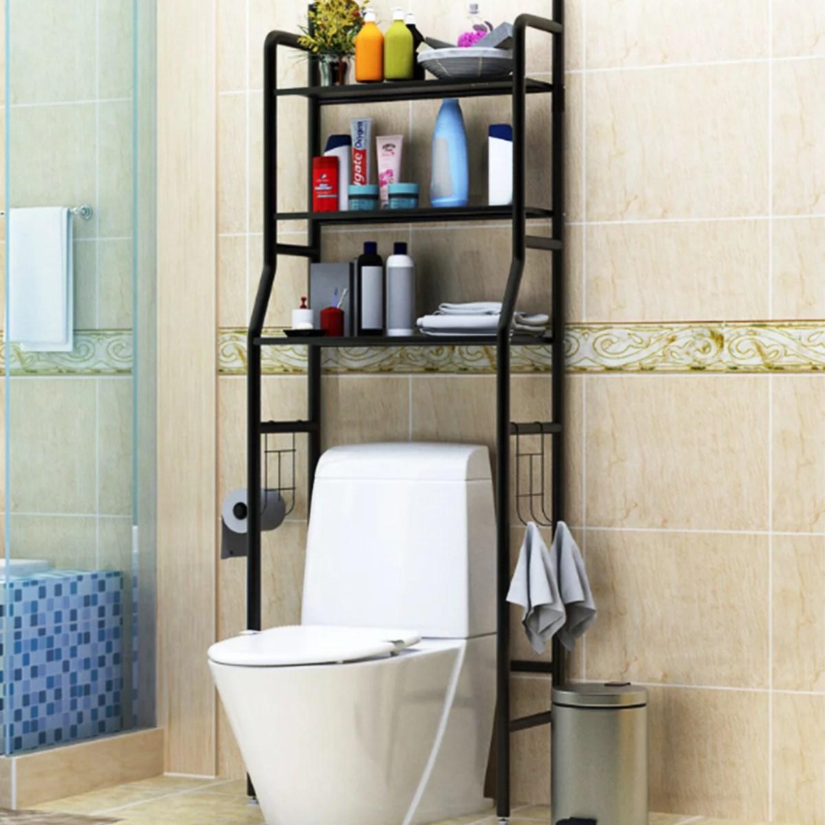 63 Height Towel Storage Rack 3 Tier Over Toilet Laundry Washing Machine Bathroom Shelf Walmart Canada