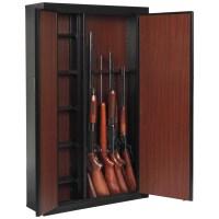 Large 16 Gun Cabinet Rifle Shotgun Security Storage Safe ...