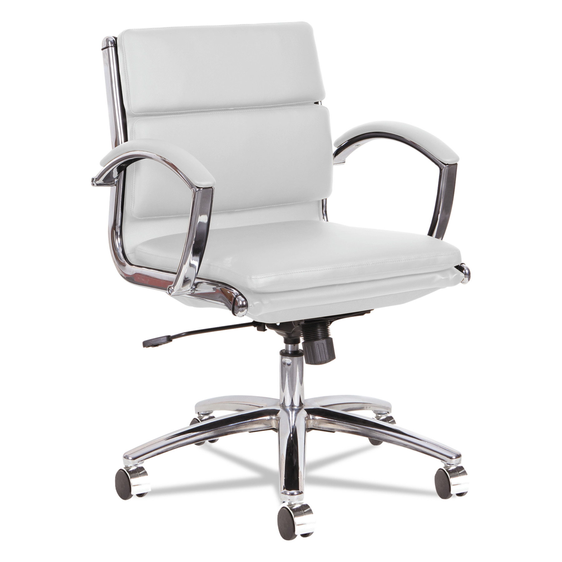 Alera Neratoli LowBack Slim Profile Chair White Faux