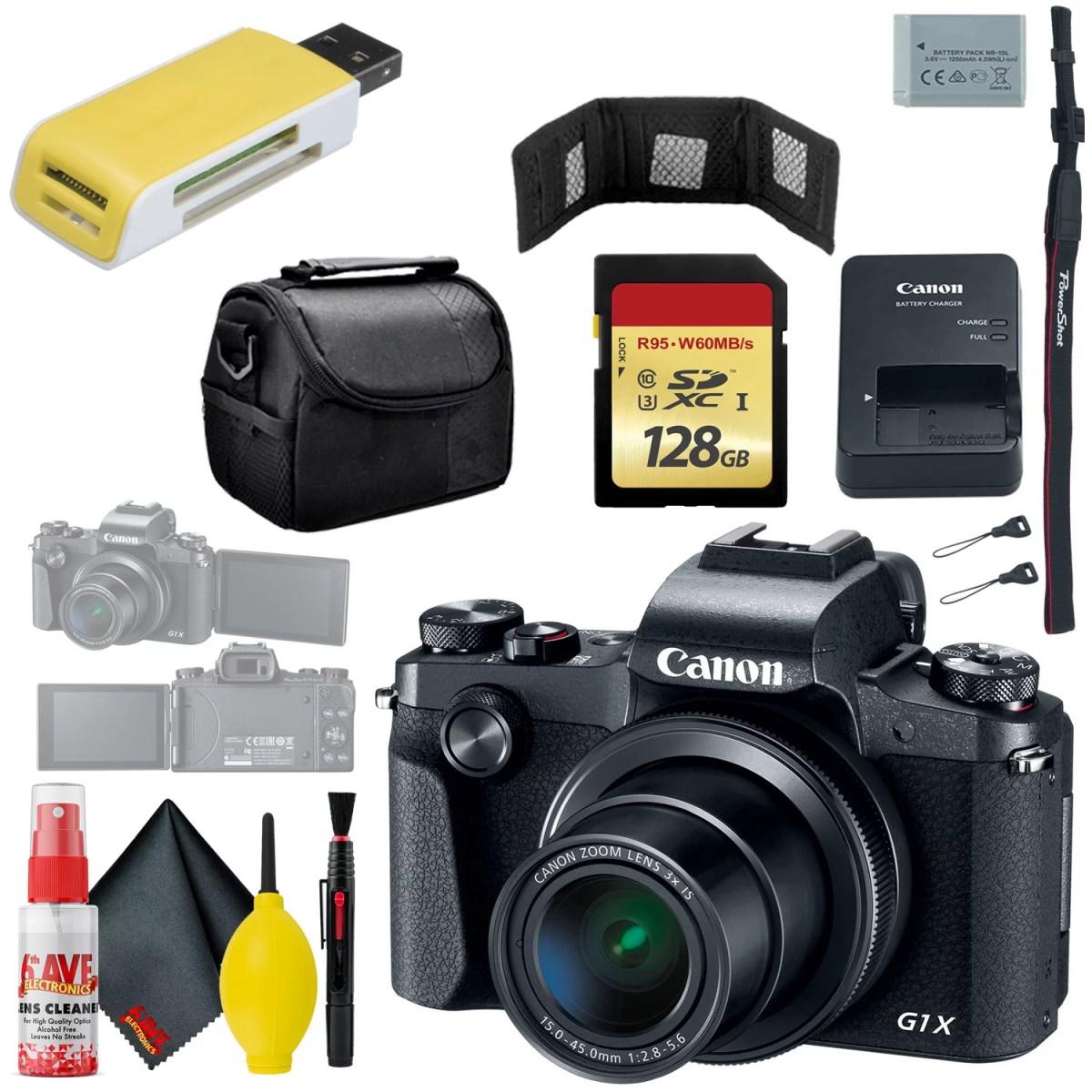 Canon PowerShot G1 X Mark III Digital Camera & 128GB MicroSD & Carrying Case