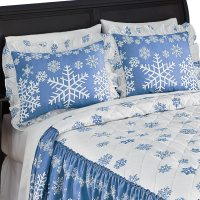 Blue And White Winter Snowflake Pillow Sham, Sham, Blue