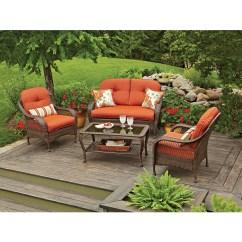 Wicker Patio Chair Cushions Chicco Polly High Better Homes Gardens Azalea Ridge Outdoor Conversation Set Walmart Com