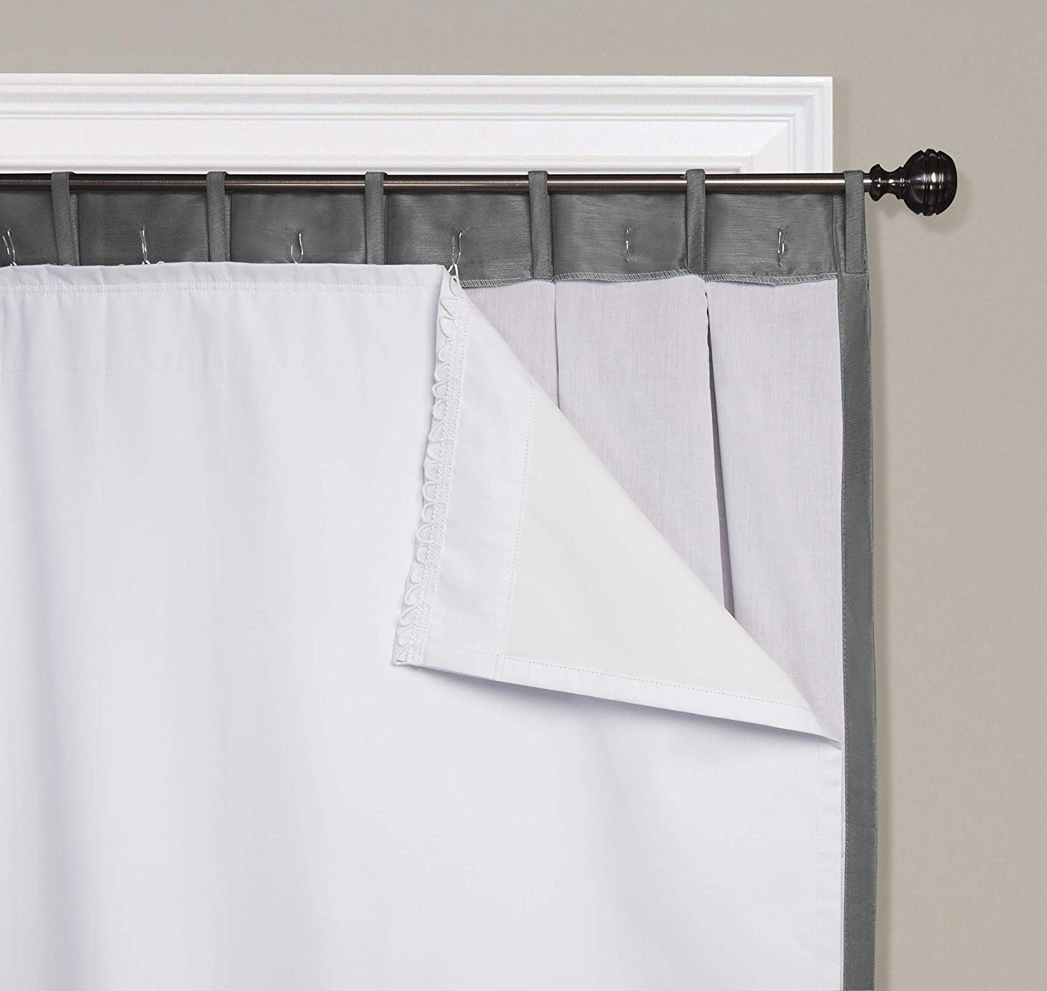smartblock 60 inch rod pocket insulating blackout curtain liner in white