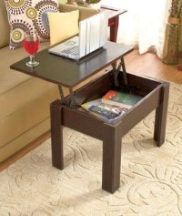 Lift-Top Coffee Tables Black - Walmart.com