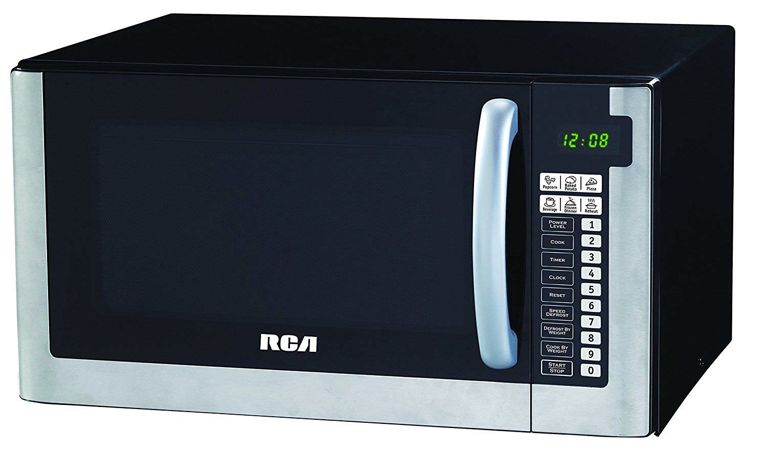 rca 1 2 cubic foot microwave stainless steel walmart com