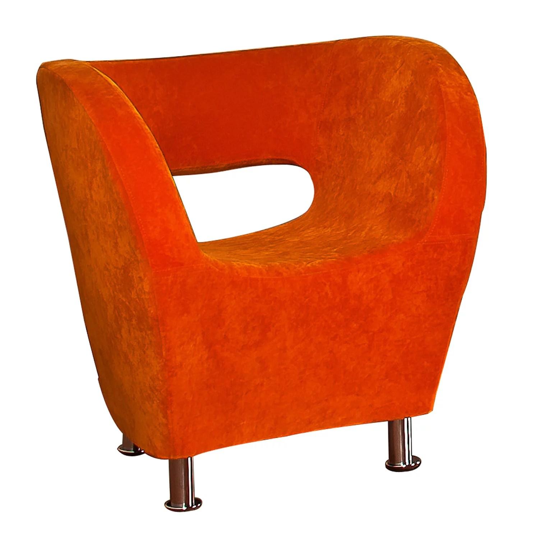 Hailsburg Orange Microfiber Accent Chair  Walmartcom