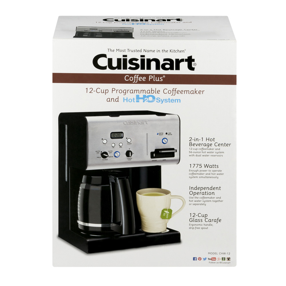 Cuisinart Coffee Plus 12Cup Programmable Coffeemaker and