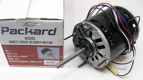 small resolution of 3 speed furnace blower fan motor packard 43595 1 hp 1075 rpm 115 volt 48 frame walmart com
