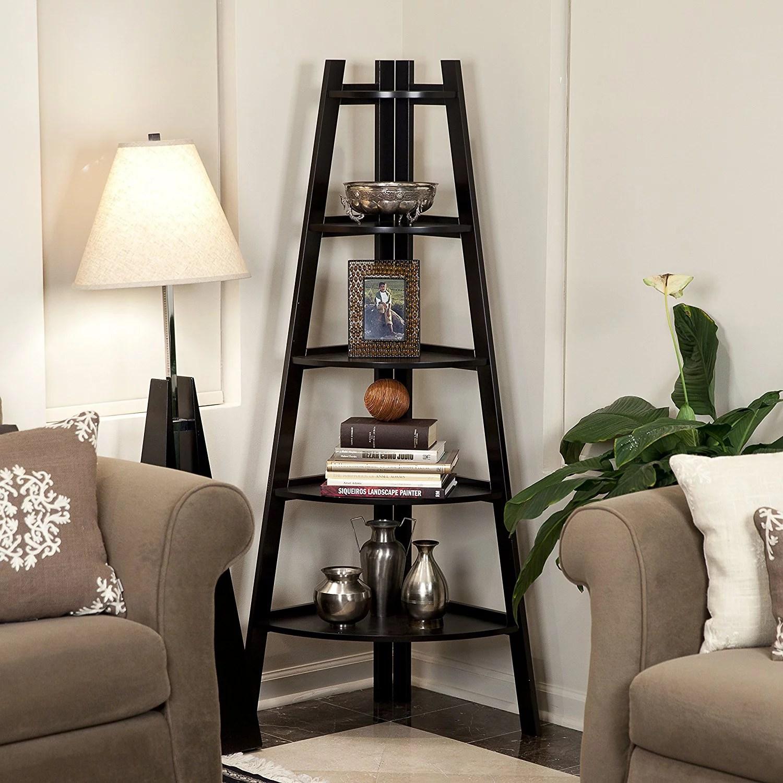 corner shelf for living room furniture sets australia zimtown 5 tier stand storage display book rack organizer walmart com