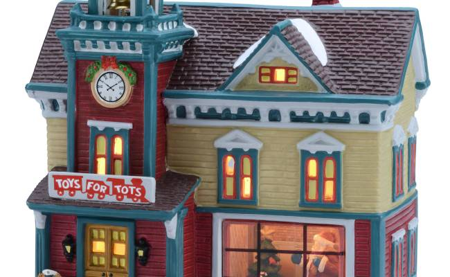 Holiday Time 8 25 Toys For Tots House Christmas Village