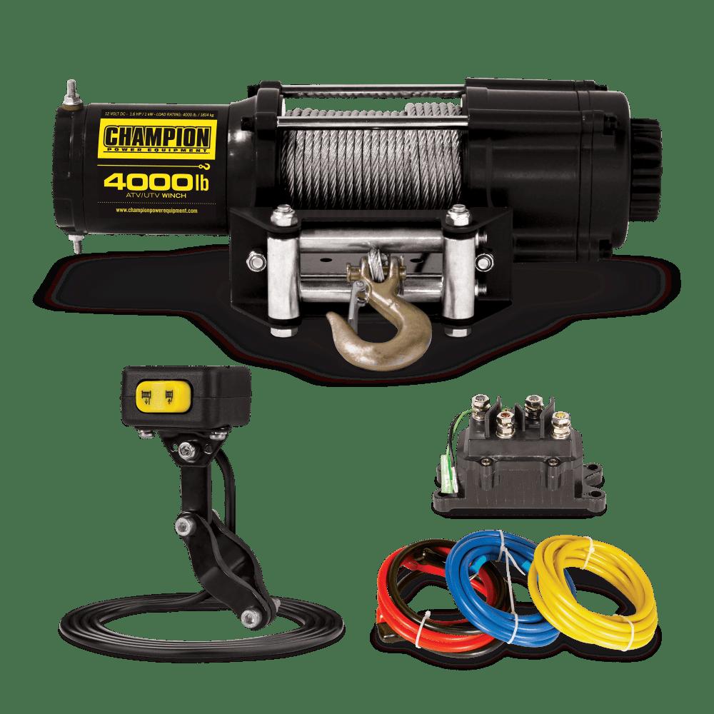 medium resolution of atv utv winch kit with mini rocker