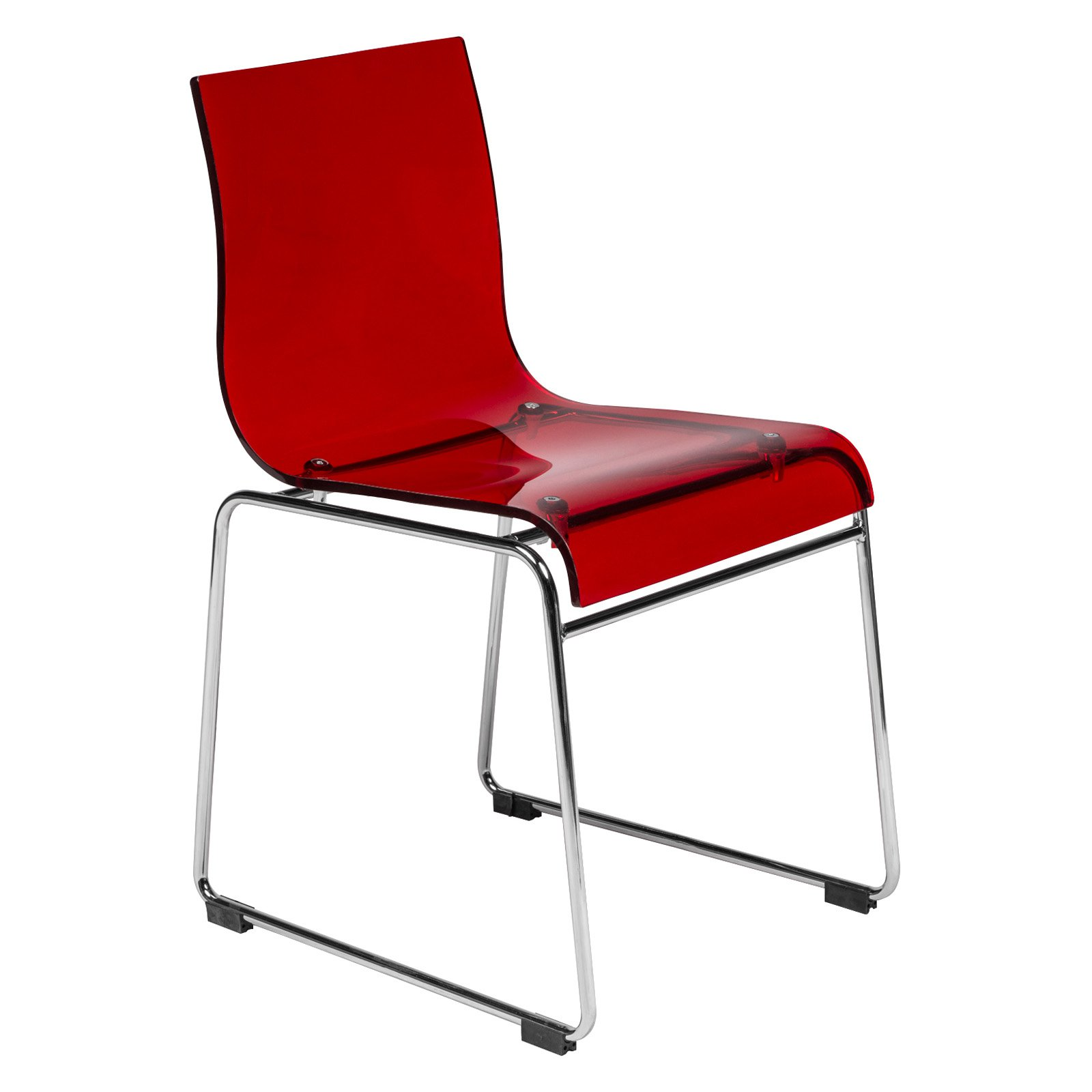 acrylic dining chair white cushion leisuremod lima modern walmart