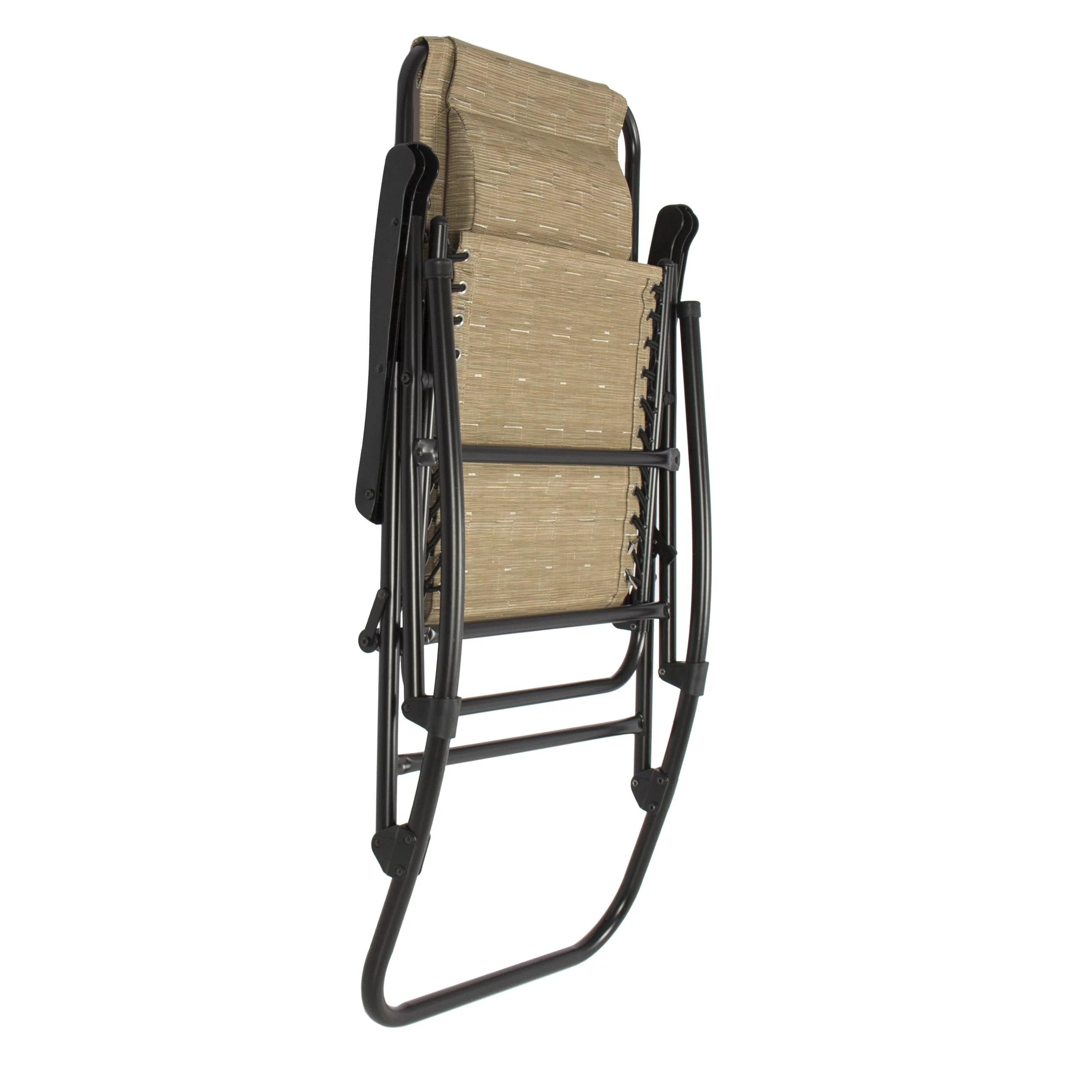 foldable rocking chair eames canada folding rocker outdoor patio furniture beige walmart com