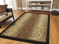 Area Rugs For Living Room Large 8x11 Cheetah Rugs Brown ...