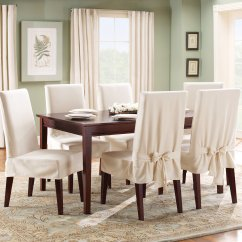 Dining Room Chair Covers Near Me Gray And Ottoman Slipcovers Sure Fit Cotton Duck Cover Walmart Com