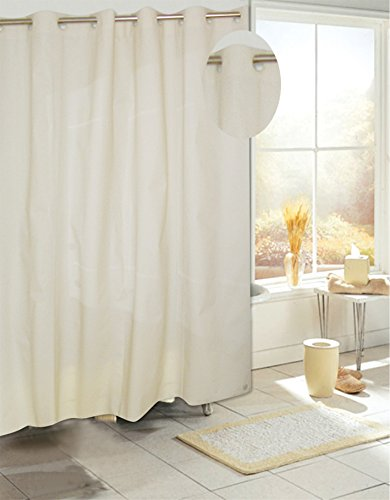 royal bath easy on no hooks needed peva non toxic shower curtain liner 70 x 72 with built in hooks ivory