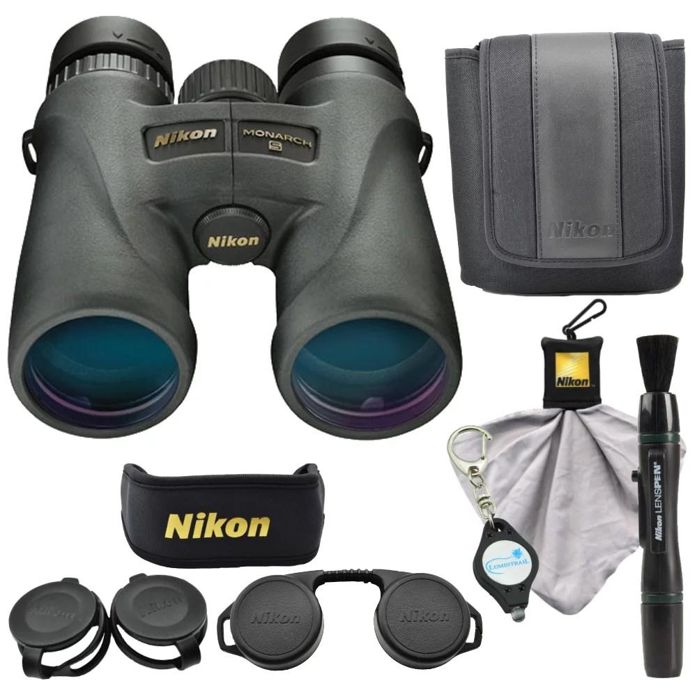 Nikon 7576 Monarch 5 8x42 Binoculars w/ Lens Pen, Cloth, Keychain Light
