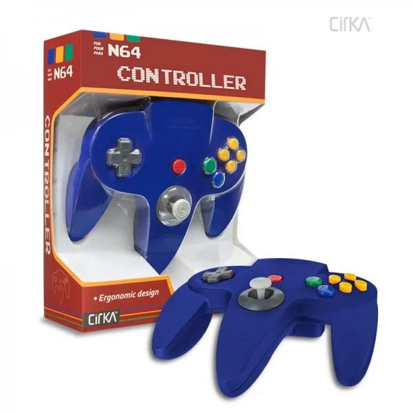 Cirka N64 Controller Blue Nintendo 64 Walmart