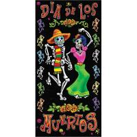 Day of the Dead Door Cover Halloween Decoration