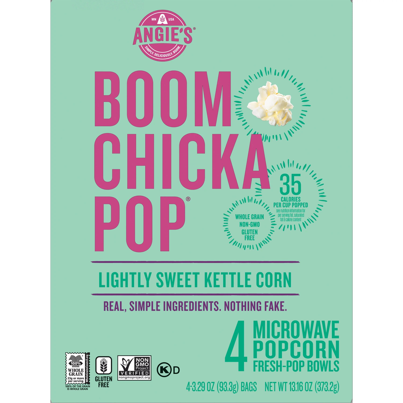 angie s boomchickapop lightly sweet kettle corn microwave popcorn bowls 3 29 oz 4 ct