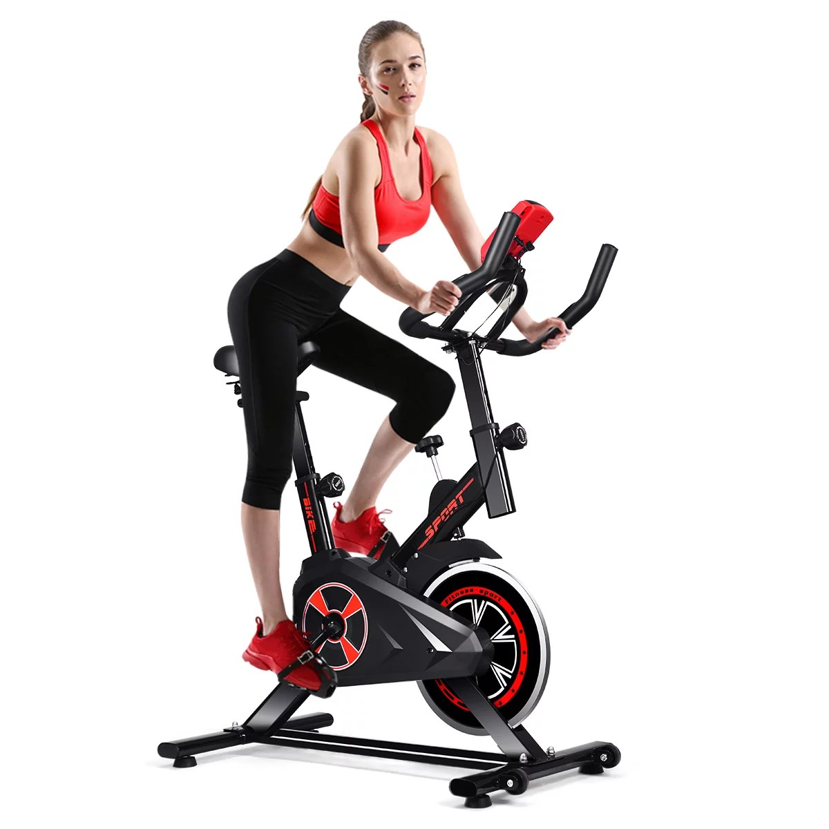 Costway Indoor Cycling Exercise Bike Gym Trainer Fitness Stationary Bike Office Cardio Walmart Canada