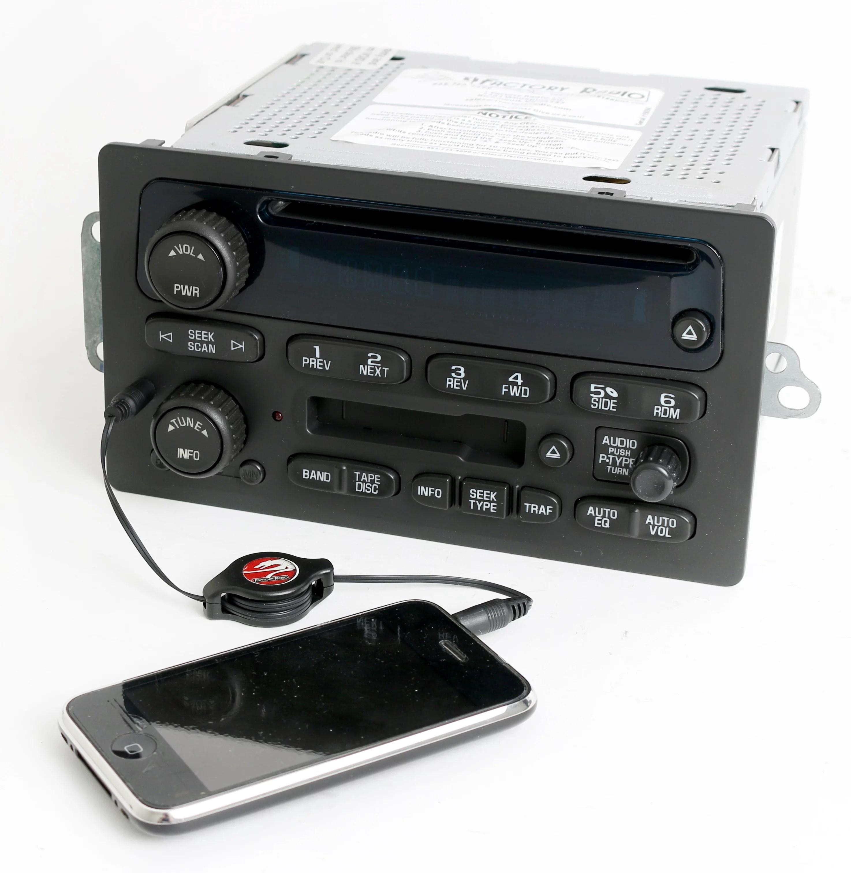 chevy gmc 2003 2005 truck radio am fm cd cassette w auxiliary mp3 delphi stereo wiring gm delco radio wiring diagram  [ 2948 x 3024 Pixel ]