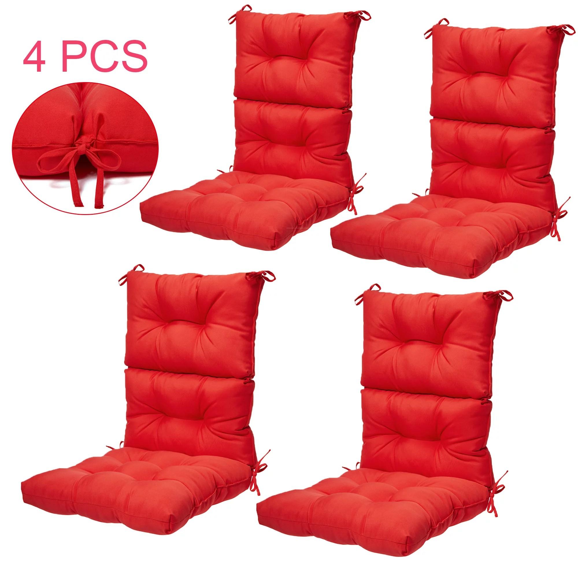 outdoor chair cushion 4pcs high back chair cushion high rebound foam high back chair cushions solid polyester chair cushion 44 x 21 in outdoor