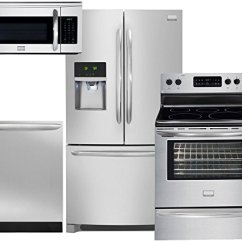 Frigidaire Kitchen Package Quality Brand Cabinets Gallery 4 Piece Smudge Proof Stainless Steel Walmart Com