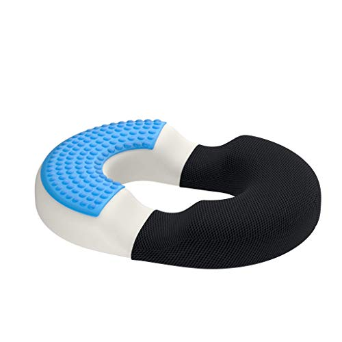 bonmedico firm orthopedic donut pillow home office memory foam hemorrhoid pillow or donut cushion for hemorrhoid treatment coccyx pain relief bbl