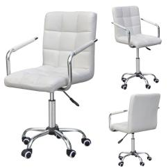Modern Grey Leather Office Chair Portable Beach Lounge Canada Yaheetech Rolling White Ergonomic Swivel Chairs Computer Executive Home Furniture On Wheels Walmart Com