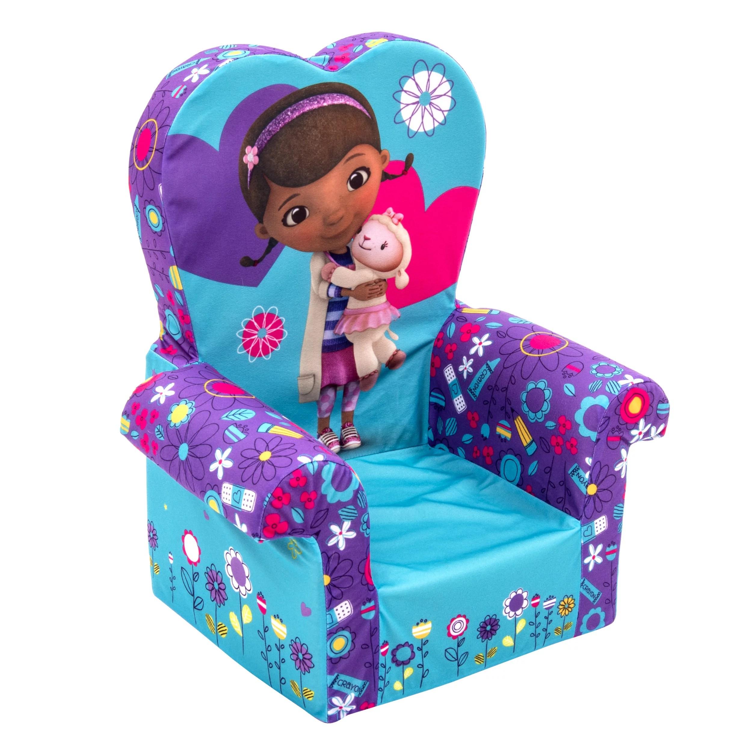 doc mcstuffin chair z covers uk marshmallow furniture children s foam high back mcstuffins walmart com