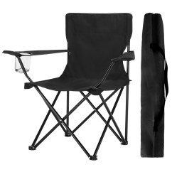 Fishing Chair With Arms Ikea Belfast Covers Finether Compact Portable Aluminum Folding Camping Arm Mesh Cup Holder And Carry Bag