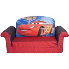 Toddler Flip Sofa Cover Blacksmith 2018 Marshmallow 2-in-1 Open Sofa, Disney Cars 2 - Walmart.com
