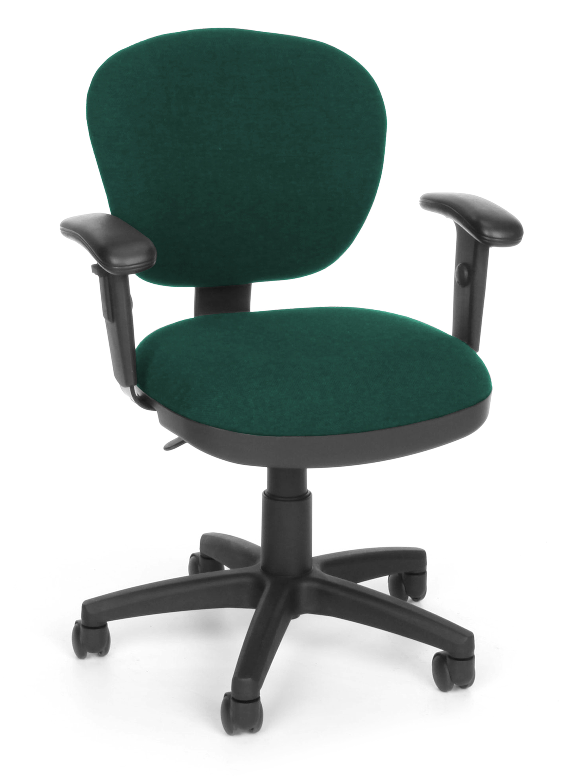 upholstered computer chair poker tables and chairs 150 aa 120 office furniture light use teal fabric 250 lbs capacity 360 degree swivel task with arms walmart com