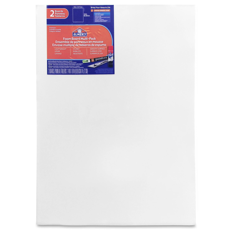 elmer s foam board multi pack 18 x 24 2 pkg white