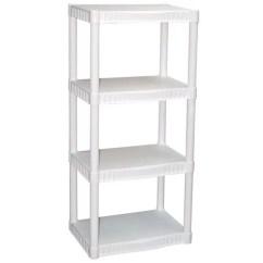 Living Room Theater Drink Menu Ideas 2018 Uk Plano 4-tier Heavy-duty Plastic Shelves, White - Walmart.com