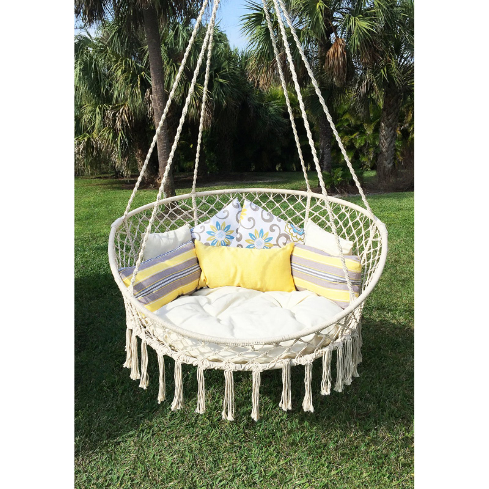 hanging chair rope cheap covers and sashes rental bliss hammocks large hammock walmart com