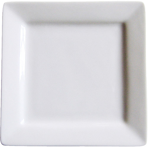 Canopy Porcelain Square Dessert Plate Pack of 4