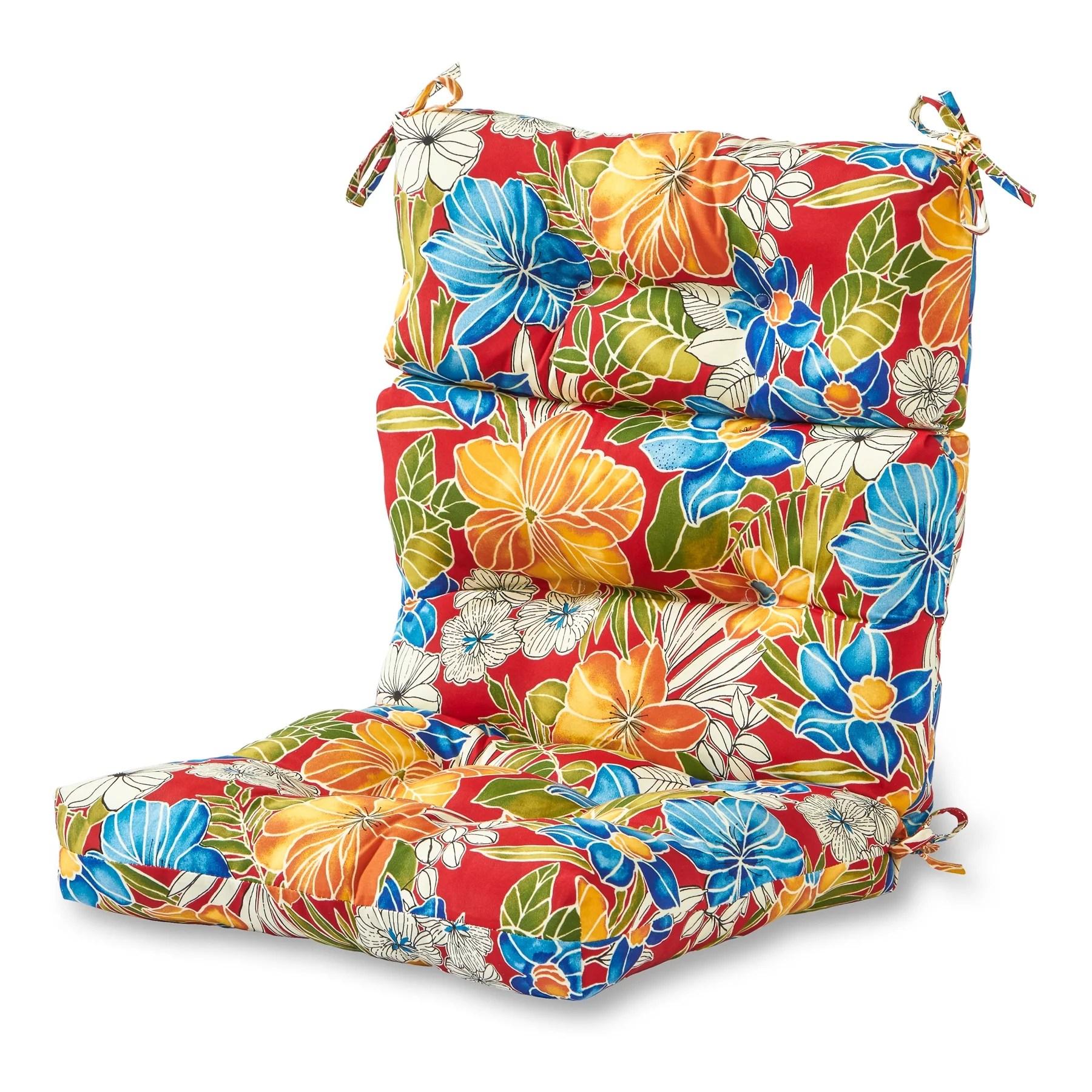 high back lawn chair cushions empire modern executive greendale home fashions aloha floral outdoor cushion walmart com